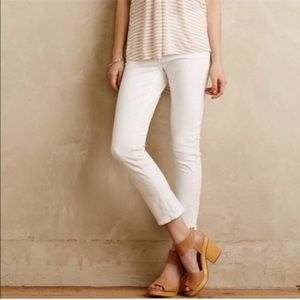 Anthropologie Pilcro White Stet Fit Jeans Size 29